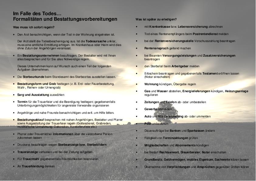 Gemeinde Knetzgau: Sterbeanzeige